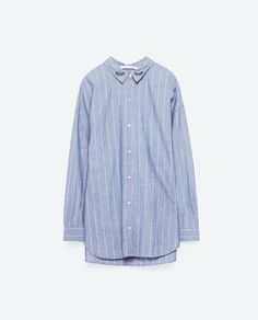 Image 8 of STRIPED SHIRT WITH EMBROIDERED COLLAR from Zara