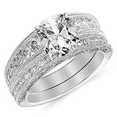 1.52 carat Diamond Engagement Ring Set in 14K Gold