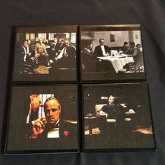A set of Godfather Coasters getting ready to ship ... our newest addition to our Movie & TV Series