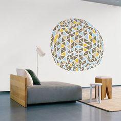 geometric wall sticker