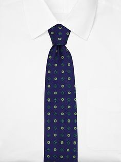 76% OFF Massimo Bizzocchi Men\'s Silk Floral Tie (Dark Blue/Green)