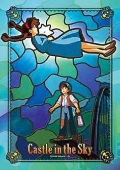 208 Pieces Laputa: Castle in the Sky (Mysterious light) Art Crystal Jigsaw (18.2x25.7cm)