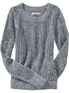 Old Navy Cropped Crochet Sweater