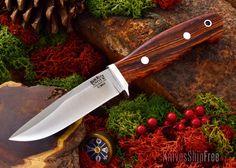 Bark River Knives: Snowy River - Elmax - Cocobolo - #1