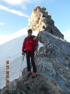 il sottoscrittoal colle di Vert m.3400 in valpelline  valle d'aosta