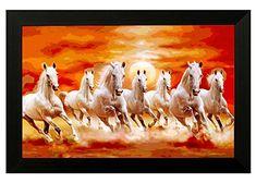 Vastu Running Seven Horse Painting Horses Running Free In 2019