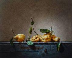 "Saatchi Art Artist Roman Reisinger; , ""Still life with 5 quinces"" #art"