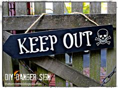"That's My Letter: ""D"" is for Danger Keep Out Sign, diy handpainted sign"