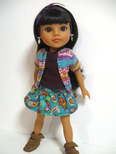 Hearts 4 Hearts Doll Clothes Paisley by 123MULBERRYSTREET on Etsy, $26.00