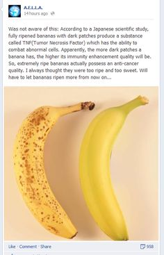 Bananas Fight Abnormal Cells