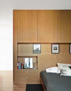 Very attractive modern, organized bedroom.