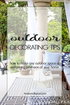 Outdoor Decorating T