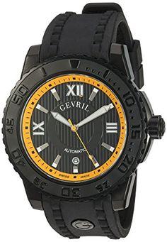 Gevril Men's 3112 Seacloud Analog Display Automatic Self Wind Black Watch