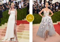 """""""Mode im Zeitalter der Technologie"""": Unter diesem Motto haben sich die Gäste der legendären Met-Gala getroffen - sie kamen mit Tamagotchi-Gürteln, Lichter-Kleidern und Metallic-Outfits. Hier können Sie Ihr Lieblingsoutfit wählen."""