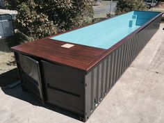 Shipping container pool.. I'd want one side to be glass for my mermaid shows