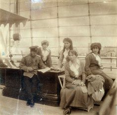 Nicholas with OTMA in Sevastopol, 1914