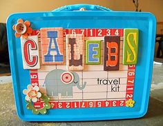Supplies Needed  Lunch Pail  Multicolored Glass Pebbles  Recycled Food Can  Dice  Deck of Cards  Timer  Disc Magnets & Magnet Sheets  Laminating Pouches  White Cardstock  PC and Printer  Dry Erase Marker  Piece of scrap material  Misc. Papers, Stickers, Embellishments, Alphas.