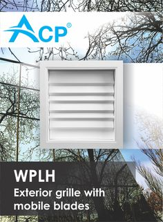 WPLH Exterior Ventilation Grilles with Mobile Blades Air Supply, Ventilation System, Blade, Exterior, Romania, Grid, Products, Outdoor Rooms, Llamas