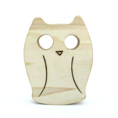 Owl Toy  Baby Teether Toy  Wooden Teething Toy by ArmadilloDreams, $9.00