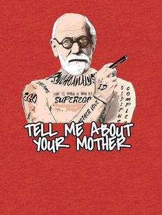 Freud by Thespoon Dr Freud, Psychology Wallpaper, Deep Conversation Topics, Psych Major, Therapy Humor, Art Jokes, Psy Art, Little Black Books, Funny Tattoos