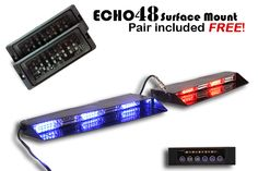 33 best led deck dash and visor lights from extreme tactical the stealth commander 9 linear led visor light bar comes with two free pairs of undercover 8 surface mounts aloadofball Gallery
