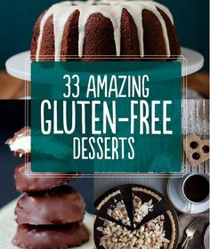 33 Amazing Gluten-Free Desserts! Check out www.absolutelygf.com for more great recipes! #Absolutelygf #Glutenfree #Recipes
