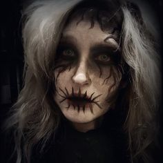 Prewiew on my Halloween Makeup look #creepyghost with #facepaint #tutorial coming on my blog soon ;) #creepy #ghost #halloween #halloweenmakeup #makeup #beauty #demon #ghostmakeup #fashion #style #styling #photooftheday #instagood