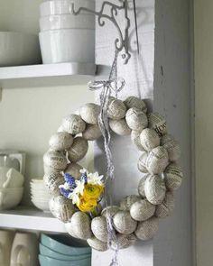 Ostern 2014 – coole Osterdeko selber basteln - ostern dekoration frisch festlich ostereie