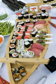 Increíble barco de #Sushi