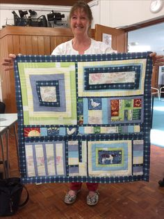 Happy scrappy patchwork from my course at Denman College