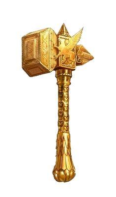 Gold Griffin Hammer - Pathfinder PFRPG DND D&D d20 fantasy