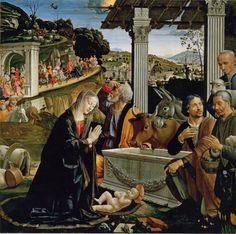 Santa Trinità, Florencia - Domenico Ghirlandaio, pala del altar de la Cappella…