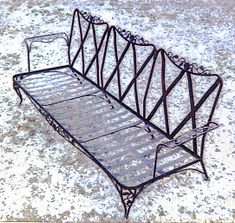 Wonderful Woodard Wrought Iron Outdoor Garden Furniture, Vintage.