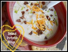 Easy Baked Potato Soup   With real baked potatoes