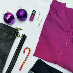 """HP 2/13!! Plus Size Button Down Chiffon Tunic Host Pick!!! 2/13 Total Trendsetter Party! V-neck button down tunic. Magenta chiffon with gold """"spike"""" buttons. Tie waist. Full length or 3/4 sleeve. Hi-lo hem. Tops Tunics"""