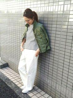 haru(Spick & Span 本社) FRAMeWORKのミリタリージャケットを使ったコーディネート - WEAR
