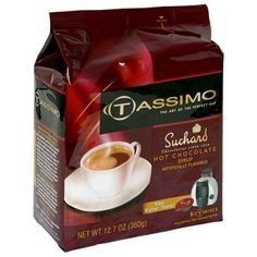 Tassimo Suchard Hot Chocolate T-Discs, 8 Count, 12.7 Ounce Bag