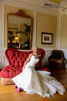 This stunning dress is the perfect touch for a regal photo op #Disney #wedding #dress
