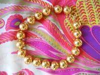 Vintage gold beads.. Beautiful..