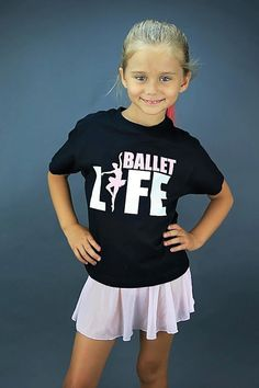 Here is a graphic tee that is the perfect combination of trendy and cute for your little gymnast! This high quality white 100% cotton t-shirt features the words ballet life with super cute ballet dancer graphic.  Our graphics are adhered to the shirt using a heat transfer process for a durable and long-lasting product. The designs are printed onto the shirts by hand to order here in the Northern Ireland, UK. I put a lot of time and effort into sourcing great quality and well-fitting garments…