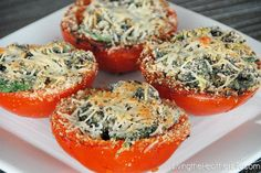 Baked Stuffed Tomatoes - easy and delicious!