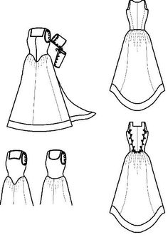 French Gown Historical Sewing Pattern: Renaissance Pattern for 1500 - 1630. $22.00, via Etsy.