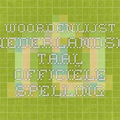 Woordenlijst Nederlandse Taal - Officiële Spelling