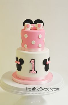 Minnie Mouse 1st First Birthday cake by Frost Me Sweet