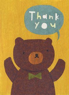 thank you bear by mique m, via Flickr