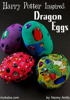 Use air dry clay and jewels to make these Harry Potter inspired Dragon eggs. Not only a fun craft for any potter fan, but also great for sparking imaginative play. Harry Potter Dragon, Harry Potter Day, Harry Potter Birthday, Harry Potter Craft, Harry Potter Activities, Fairy Tale Crafts, Dragons, Crafts For Kids, Arts And Crafts