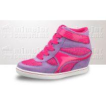 hot sales df60a d0053 tenis tacon para niñas - Buscar con Google   Zapatos   Sneaker heels, High  heel sneakers, Shoes