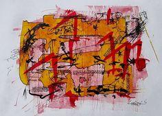 M0244, schilderij van Christian van Hedel | Abstract | Modern | Kunst