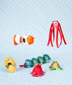 from Make and Takes for Kids- egg carton animals