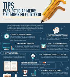 8 Recomendaciones para Estudiar Eficazmente | #Infografía #Educación